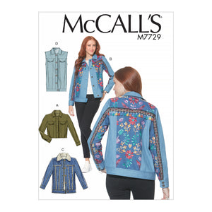 McCall's M7729A50 Misses' Jackets and Vest 6-8-10-12-14