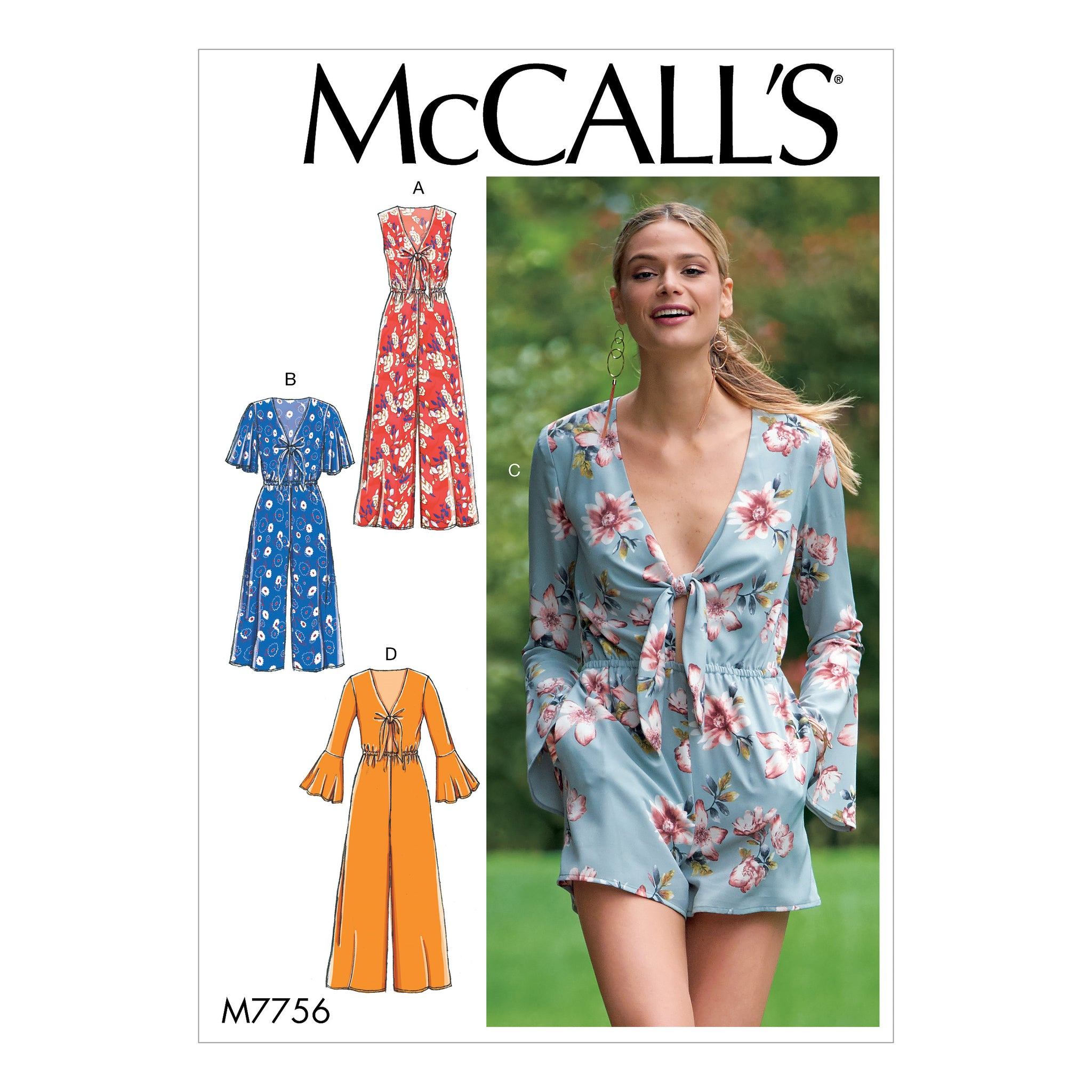 McCall's M7756A50 Misses' Jumpsuits and Romper 6-8-10-12-14
