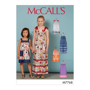 McCall's M7768CCE Children's/Girls' Dresses 3-4-5-6
