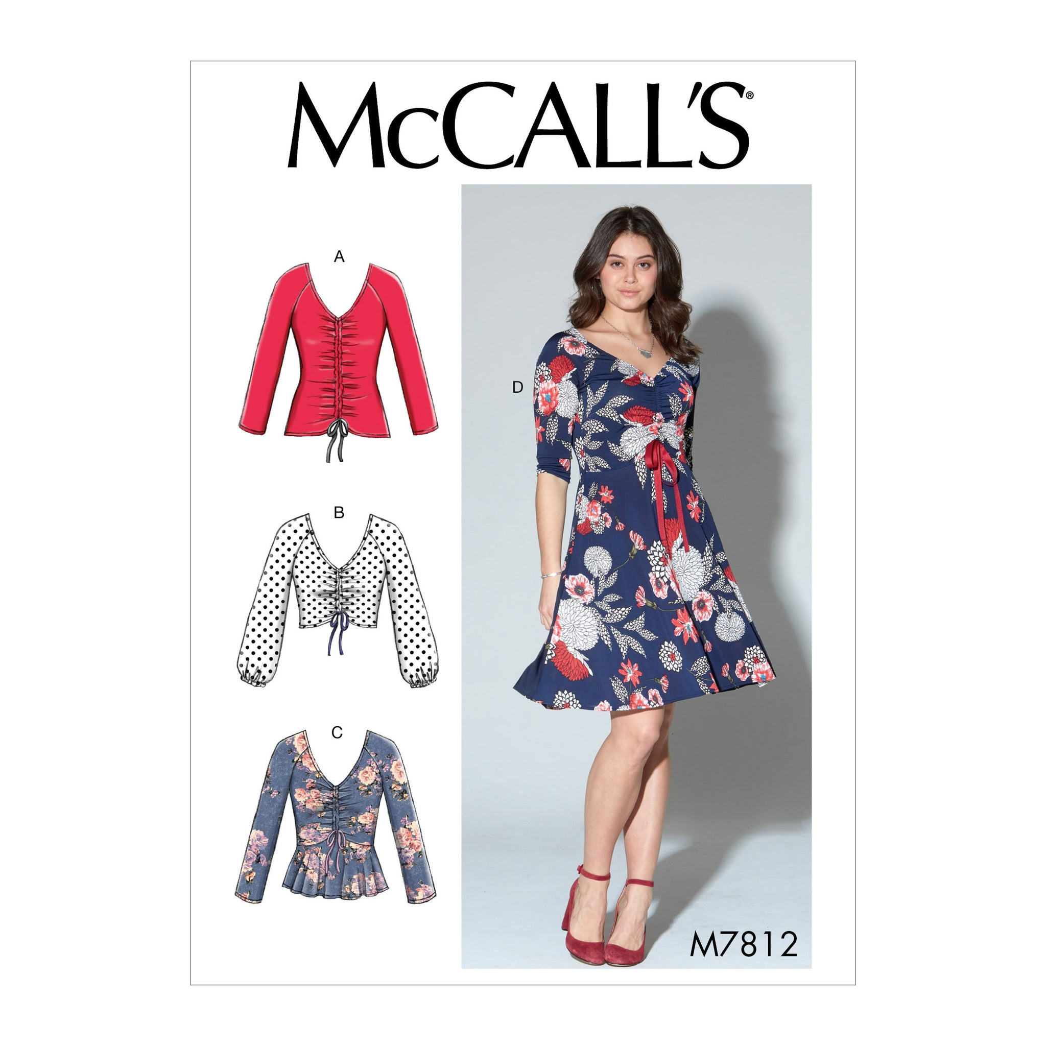 McCall's M7812ZZ0 Misses' Tops and Dress L-XL-XXL