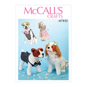 McCall's M7850OSZ Pet Clothes All Sizes in One Envelope