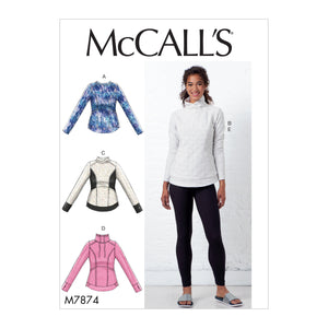 McCall's M7874ZZ Misses' Tops and Leggings L-XL-XXL