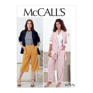 McCall's M7876A5 Misses' Jackets and Pants 6-8-10-12-14