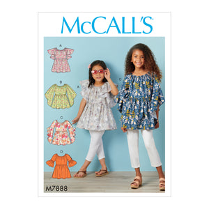 McCall's M7888CCE Children's and Girls' Tops CCE(3-4-5-6)