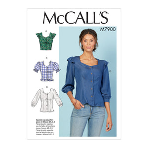 McCall's M7900A5 Misses' Tops E5(14-16-18-20-22)