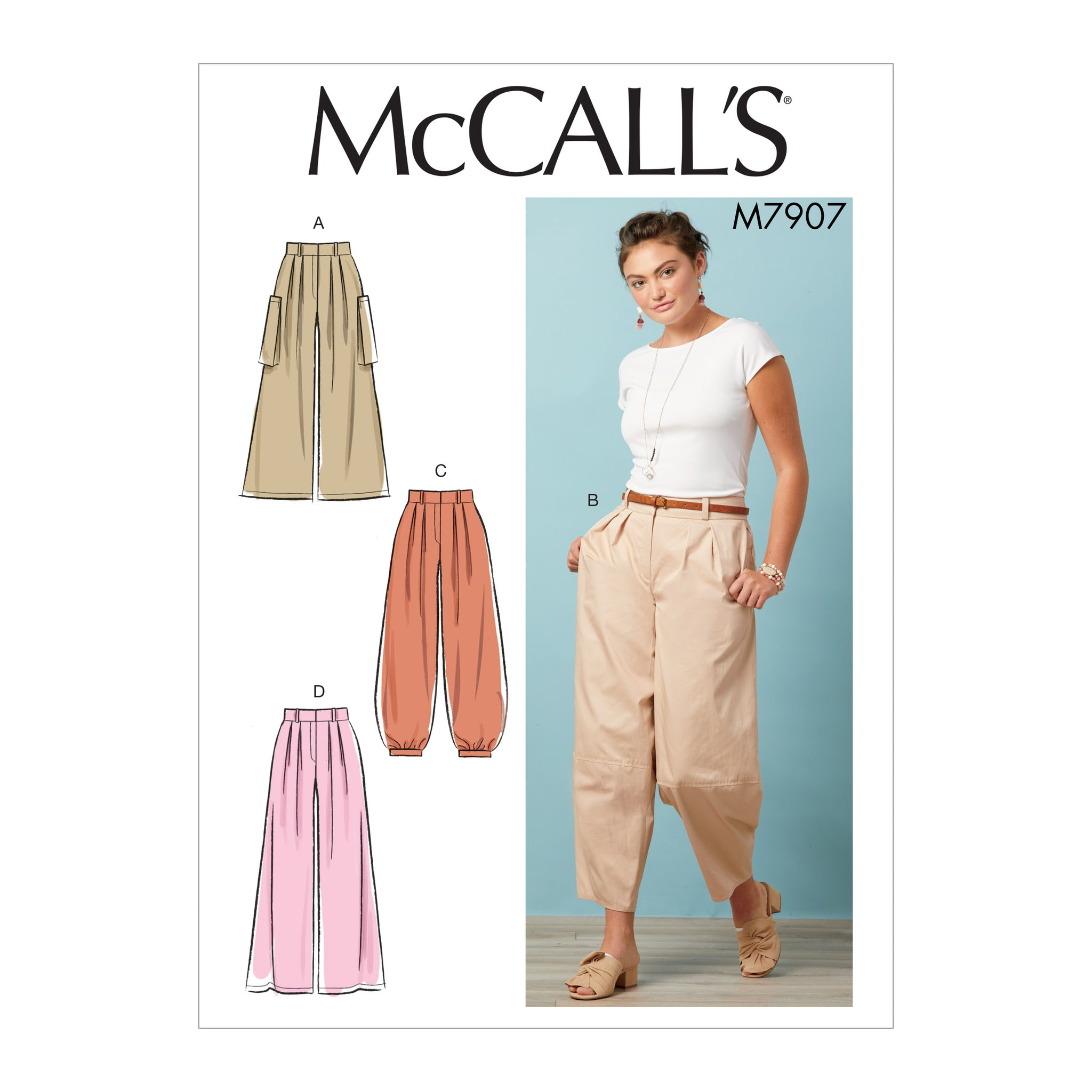 McCall's M7907A5 Misses' Skirts E5(14-16-18-20-22)
