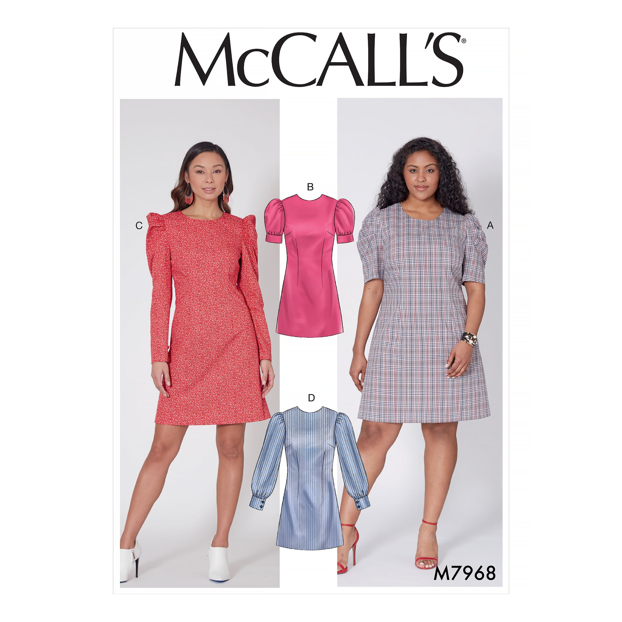 McCall's M7968B5 Misses' and Women's Dresses 8-10-12-14-16