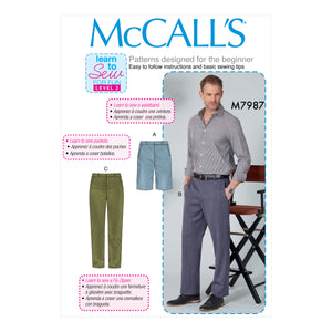 McCall's M7987NYY Men's Shorts and Pants 36-39-42-44