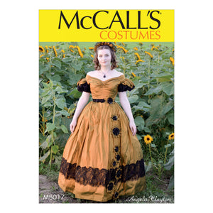 McCall's M8017A5 Misses' Costume 6-8-10-12-14
