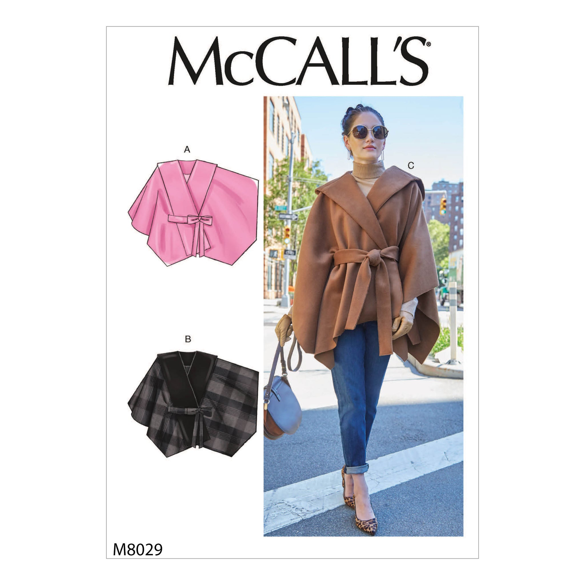 McCall's M8029Z Misses' Capes & Belt L-XL