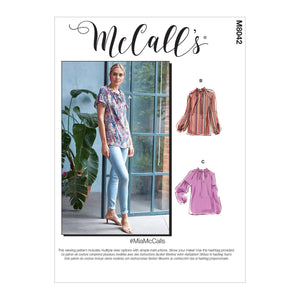 McCall's M8042ZZ #MiaMcCalls - Misses' Tops ZZ (LRG-XLG-XXL)