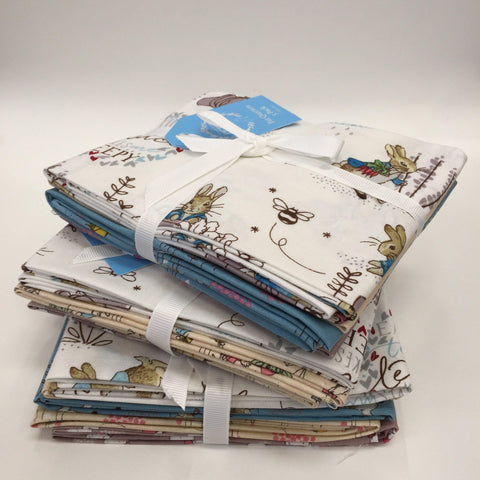 Beatrix Potter Peter Rabbit Fat Quarters (5 pieces) Fabric Mouse Fat Quarter Bundles - Fabric Mouse