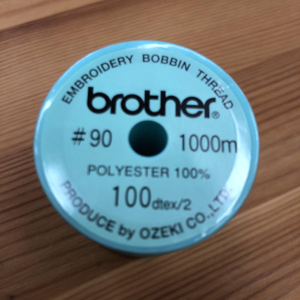 Brother Bobbin Thread Size90 Green for Sewing & Embroidery Machines 1000m - XC5996001 Brother Bobbins - Fabric Mouse