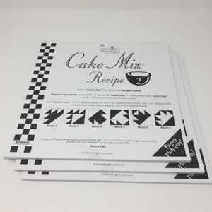 Cake Mix Recipe 2 by Moda- Each Recipe contains 44 Papers to make 88 Quilt Blocks Moda Cake Mix Recipe - Fabric Mouse