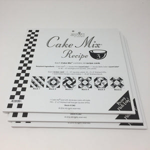 Cake Mix Recipe 3 by Moda- Each Recipe contains 44 Papers to make 88 Quilt Blocks Moda Cake Mix Recipe - Fabric Mouse