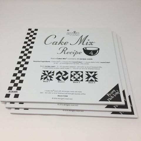 Cake Mix Recipe 4 by Moda- Each Recipe contains 44 Papers to make 88 Quilt Blocks Moda Cake Mix Recipe - Fabric Mouse
