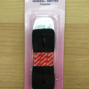 Hemline General Purpose Elastic Knitted 2mx12mm: Black-Sewing & Needlecrafts-Hemline-Fabric Mouse