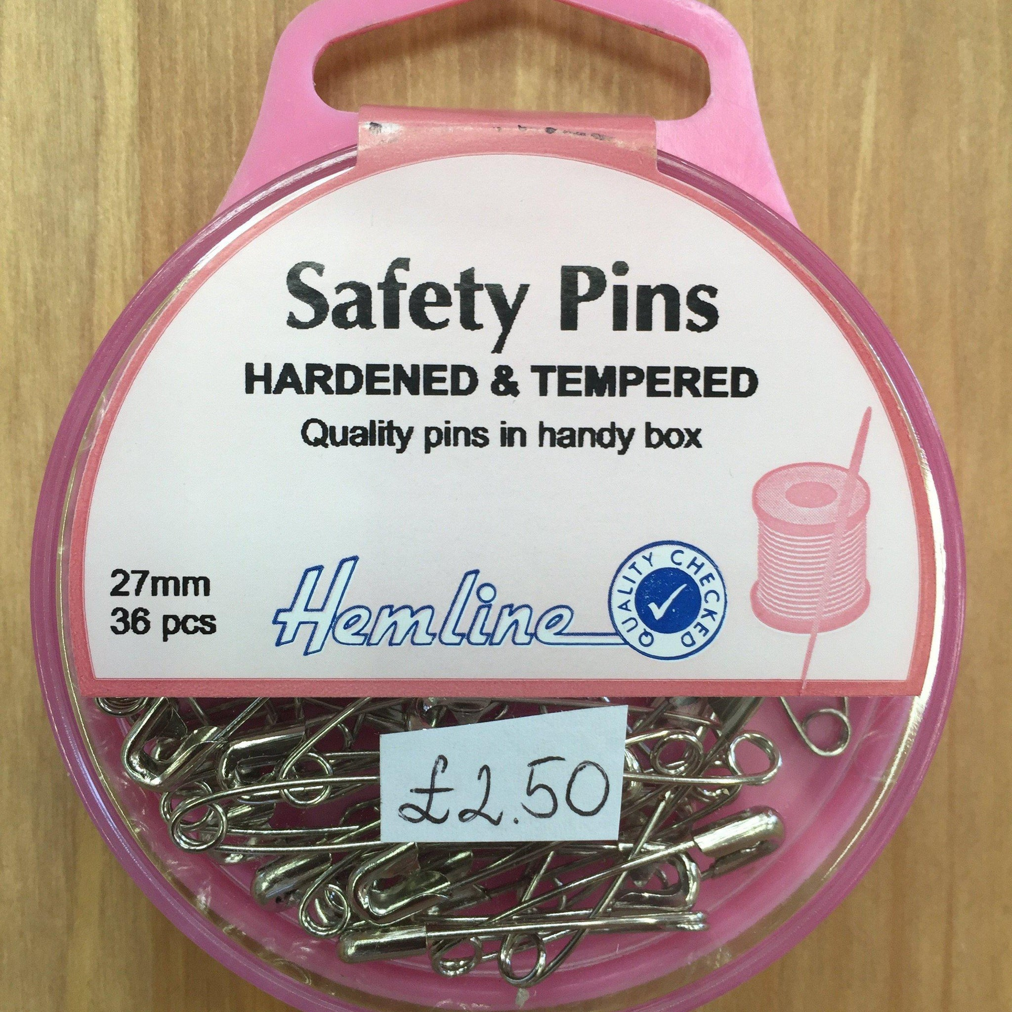 Hemline Hardened & Tempered Safety Pins H410.0-Pins & Needles-Hemline-Fabric Mouse
