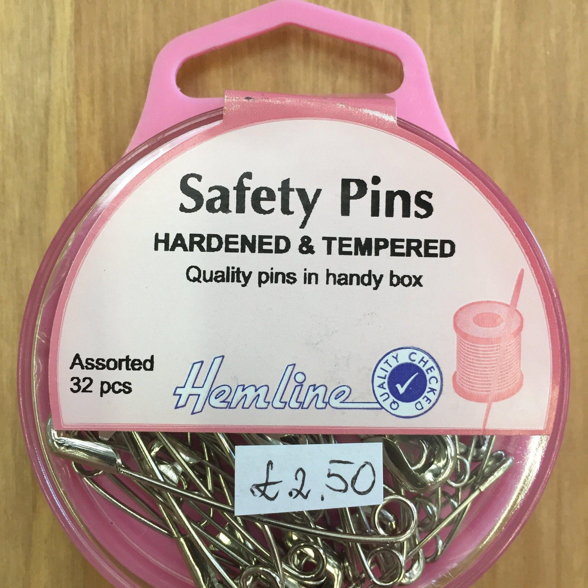 Hemline Hardened & Tempered Safety Pins H410.99-Pins & Needles-Hemline-Fabric Mouse