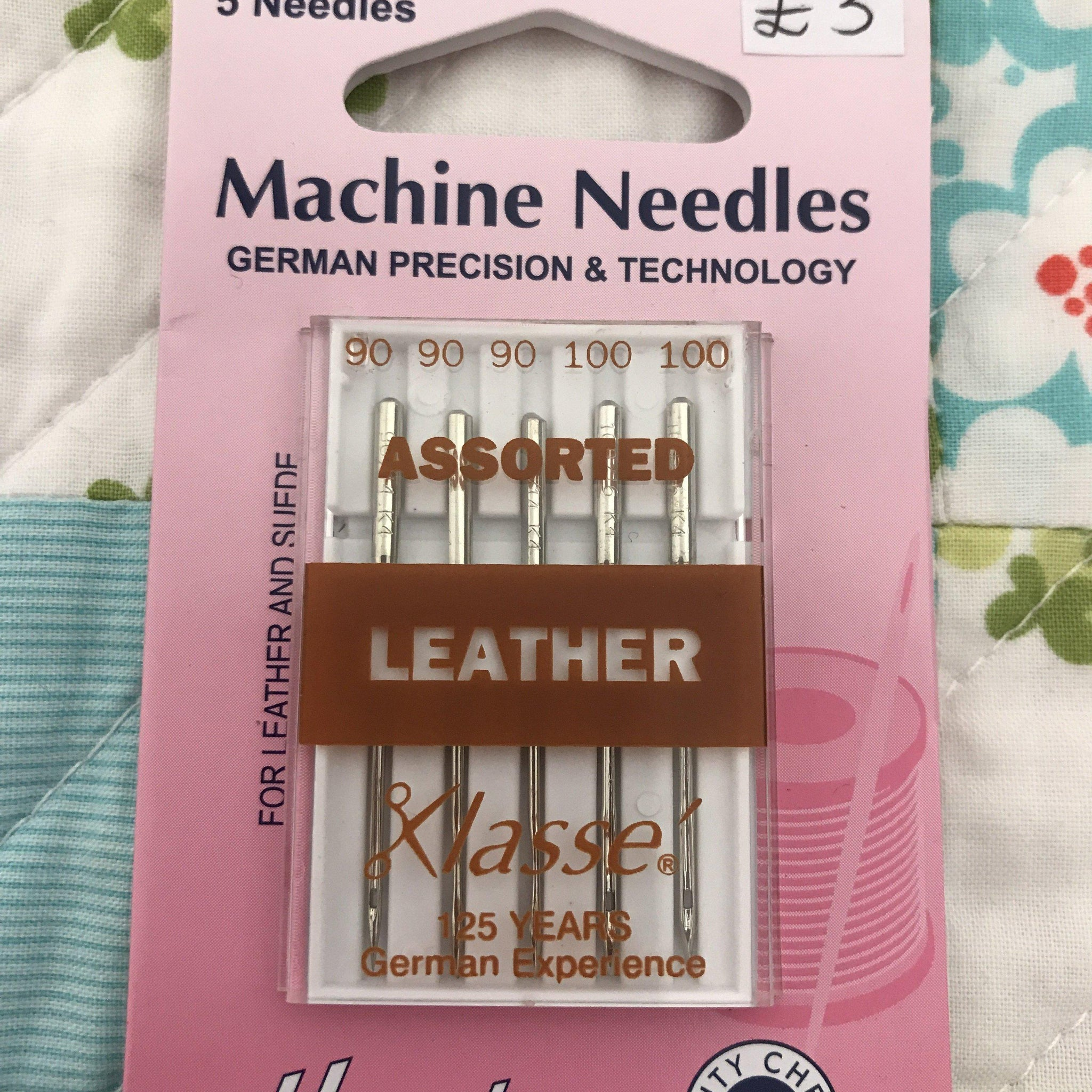 Hemline leather sewing machine needles assorted Hemline Sewing Machine Needles - Fabric Mouse