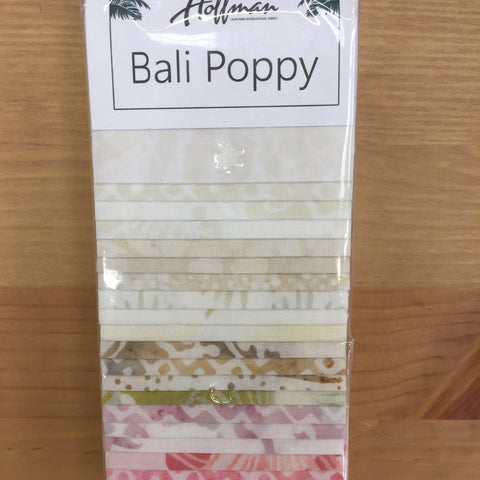 Image of Hoffman Bali Poppy Batik Strips-Quilting Pre Cuts-Hoffman-Fabric Mouse