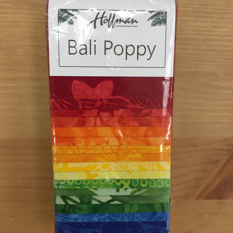 Hoffman Bali Poppy Batik Strips-Quilting Pre Cuts-Hoffman-Fabric Mouse