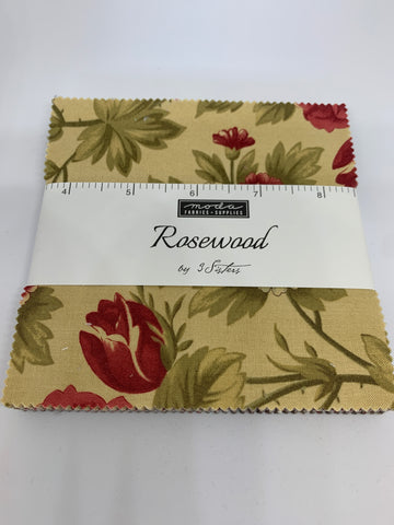 Rosewood Charm Pack Quilting Fabric by 3 Sisters