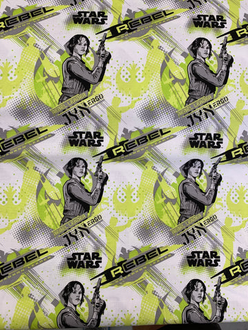 LFA10 Star Wars jyn on white in lime and grey