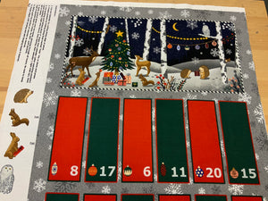 Copy of XP043- Christmas woodland scene Advent Panel - Littondale