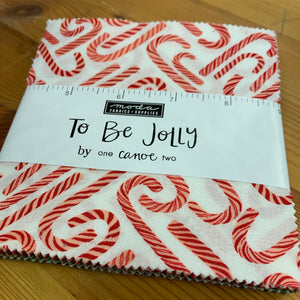To be Jolly Charm pack by one canoe two square quilting fabric 5""