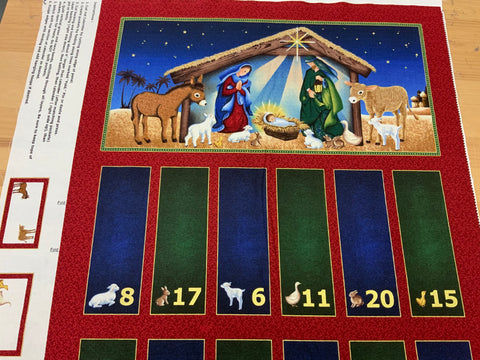 XP042- Nativity Christmas Advent Panel - Littondale