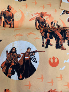 LFA22 orange Star Wars fabric