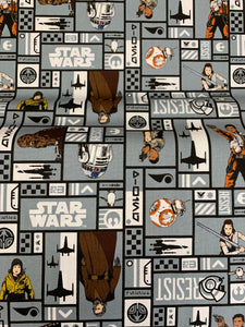 LFA12 Star Wars fabric on grey