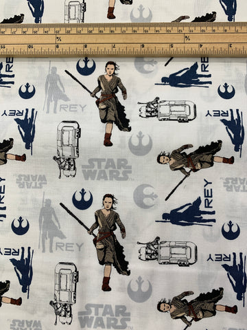 LFA06 Star wars fabric Ray on white