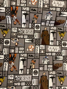 LFA14 Star Wars fabric in grey