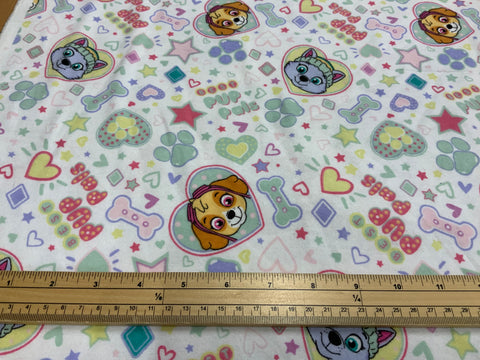 LFF-02-Paw Patrol Brushed  Cotton Fabric 110cm wide