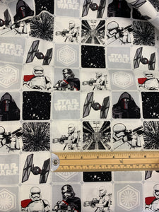 LFA05 Star Wars fabric Dark Side on white