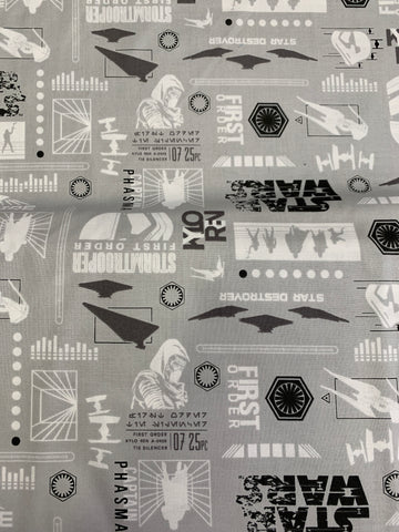 LFA16 first order on grey Star Wars fabric