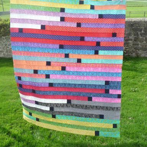 Jelly Roll patchwork top piece (£40)-Sewing Class-fabricmouse-Fabric Mouse