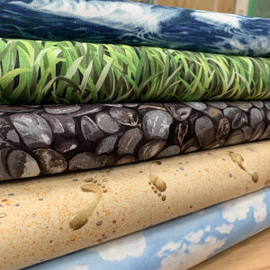 Landscape craft cotton for Quilt and Appliqué 110cm Wide - 50cm length.-Fabric-Fabric Mouse Sewing Machines-Fabric Mouse