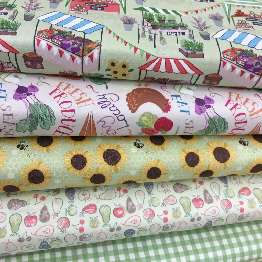 Lewis & Irene Farmers Market 5 Fat quarter bundle, Set B-fabricmouse-Fabric Mouse