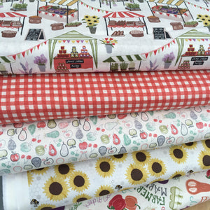 Lewis & Irene Farmers Market Fat quarter bundle, Set C-fabricmouse-Fabric Mouse