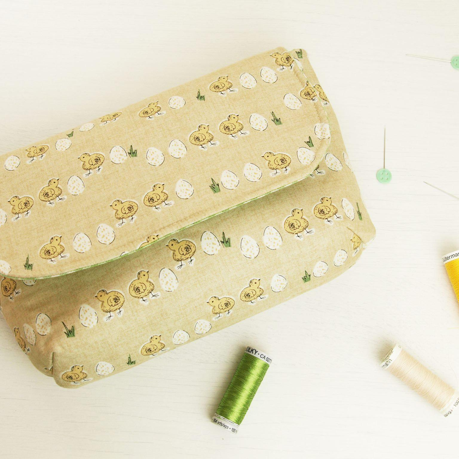 Make a clutch bag with Sandra-Sewing Class-Fabric Mouse-Fabric Mouse