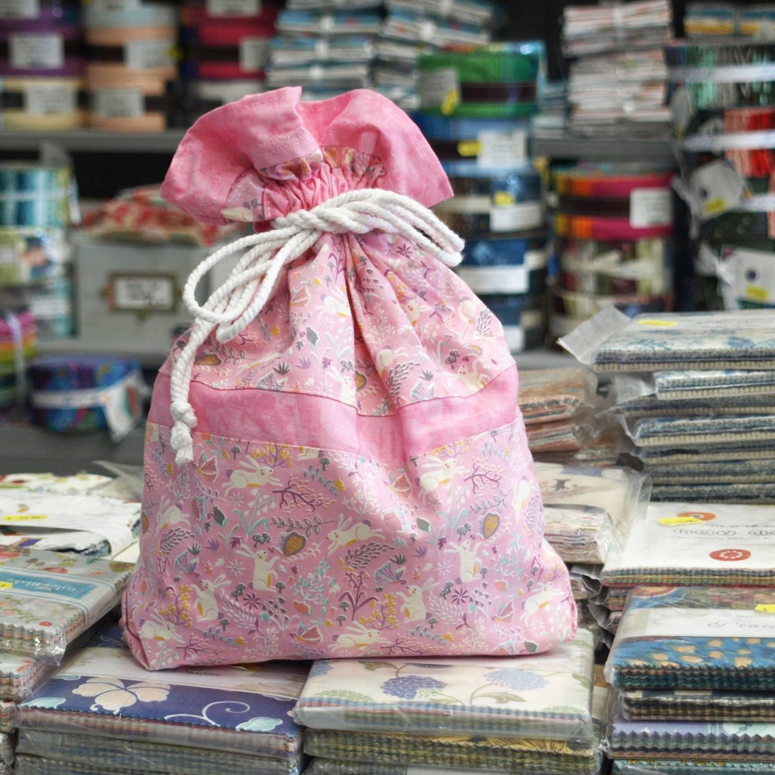 Make a drawstring bag with Sandra - Monday 11th June-Sewing Class-Fabric Mouse-Fabric Mouse