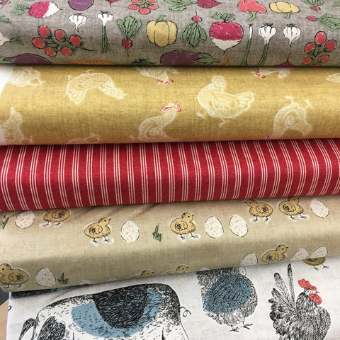 Makower Home Grown 5 fat quarter bundle, Set A-Fat Quarter Bundles-Makower UK-Fabric Mouse