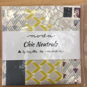 Moda Chic Neutrals Charm Pack by Amy Ellis-Charm Pack-Fabric Mouse-Fabric Mouse