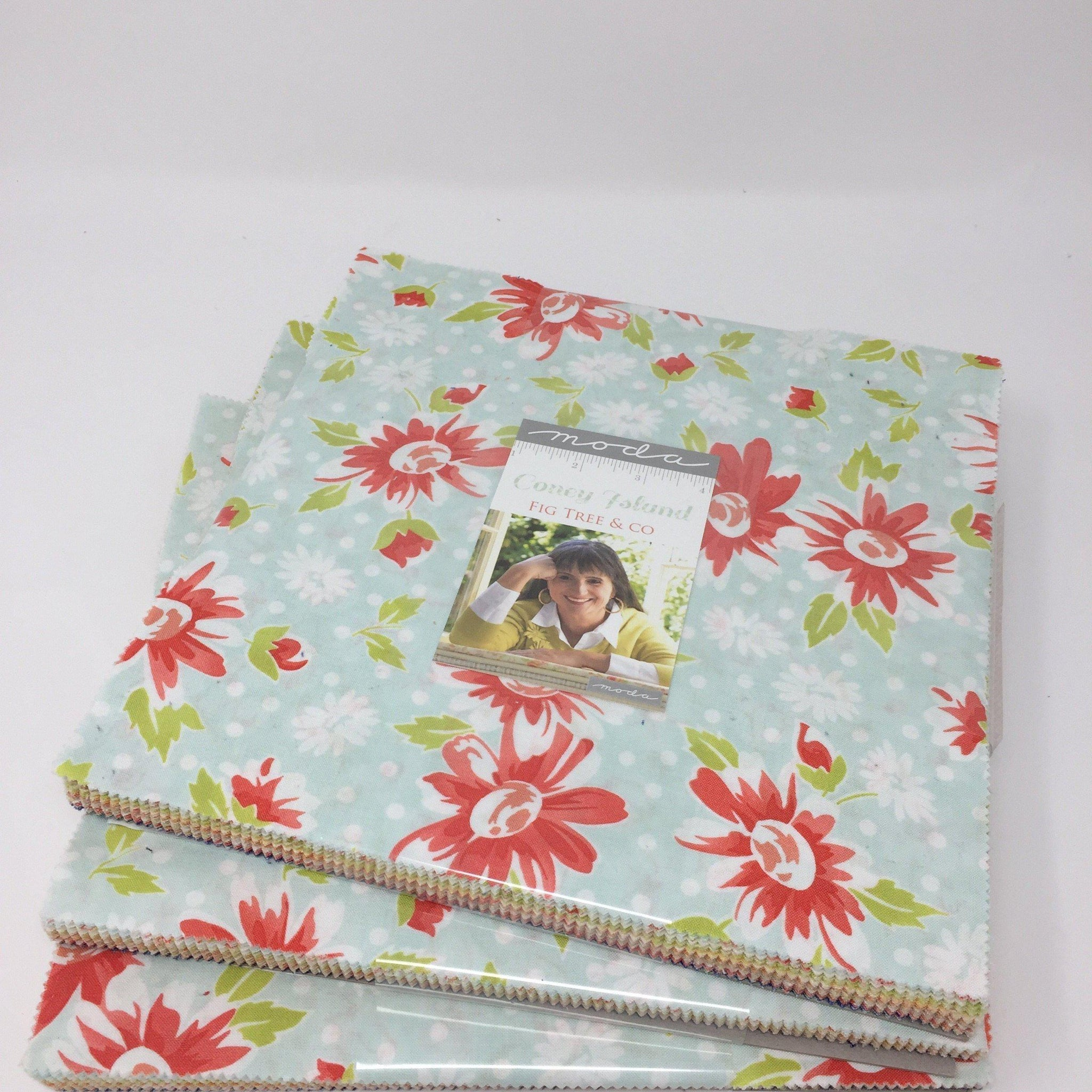Moda Coney Island Layer cake by Fig Tree & Co 20280LC-Fabric-Moda-Fabric Mouse