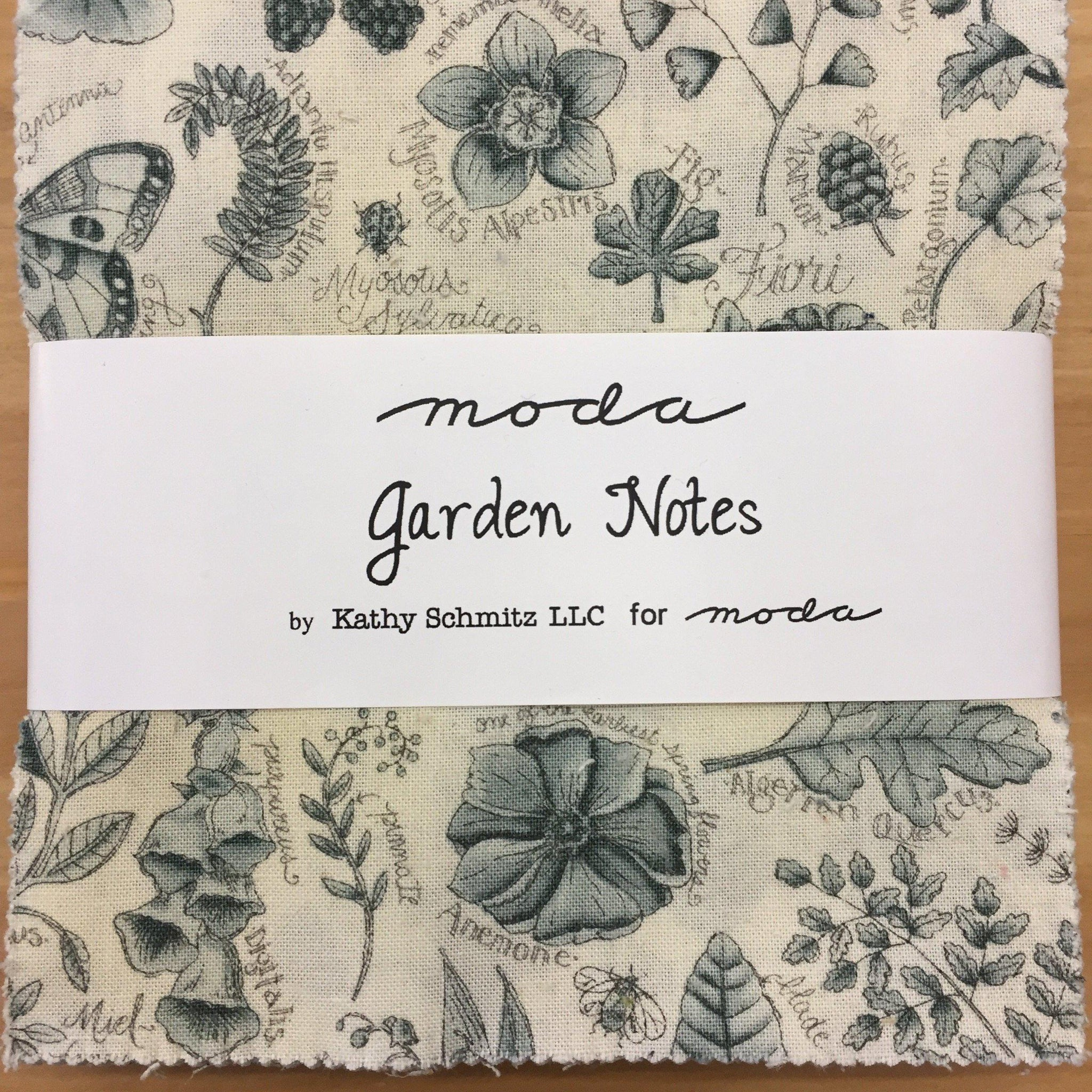 Moda Garden Notes Charm Pack by Kathy Schmitz LLC-Charm Pack-Fabric Mouse-Fabric Mouse