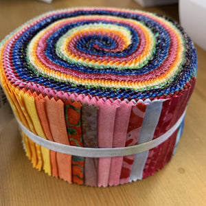 Moda Sun kissed batiks Jelly Roll-Jelly Roll-Moda-Fabric Mouse