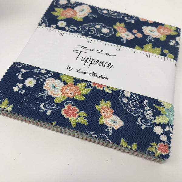 "Moda Tuppence Charm Pack by Shannon Gillman Orr square quilting fabric 5"" 45510PP-Fabric-Moda-Fabric Mouse"